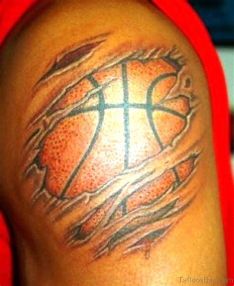basketball tattoo design 67 superb basketball tattoos on shoulder