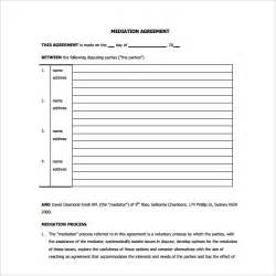 Mediation Template by Mediation Agreement Template 6 Free Documents