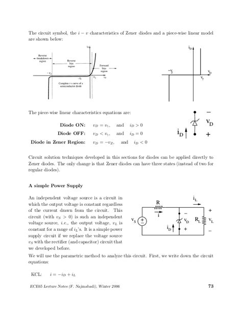 zener diode application notes zener diode lecture notes 28 images ppt lecture 2 semiconductor diodes powerpoint قسم
