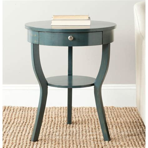 Teal End Table by Safavieh Kendra Steel Teal Storage End Table Amh6620b