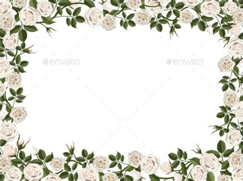 flower border template 9 blank flower templates psd vector eps ai