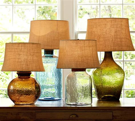 pottery barn clift l colored glass ls from pottery barn clift