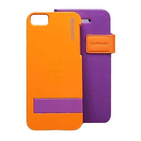 Capdase Smart Folder Sider Belt Apple Iphone 5 5s Oranye iphonese 5s 5 ケース smart folder sider belt purple orange capdase iphoneケースは unicase