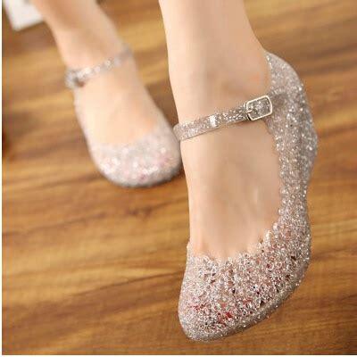 Sandal Jelly Flower Glass popular glass slipper heels buy cheap glass slipper heels
