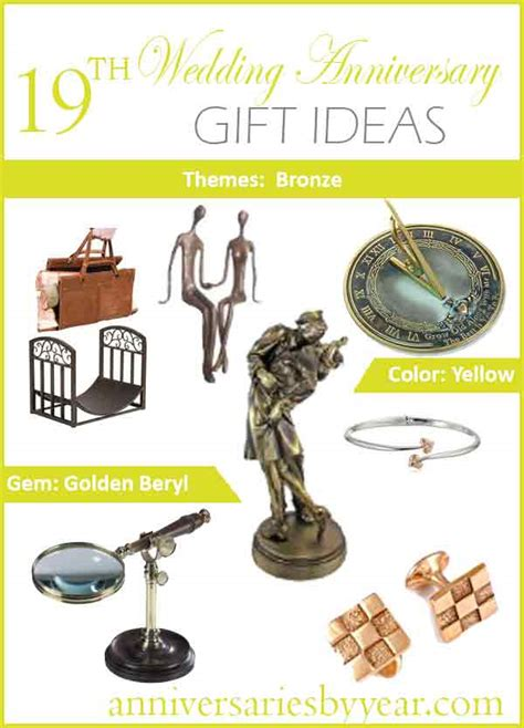 traditional 17th wedding anniversary gifts 19th year anniversary 19th anniversary gifts