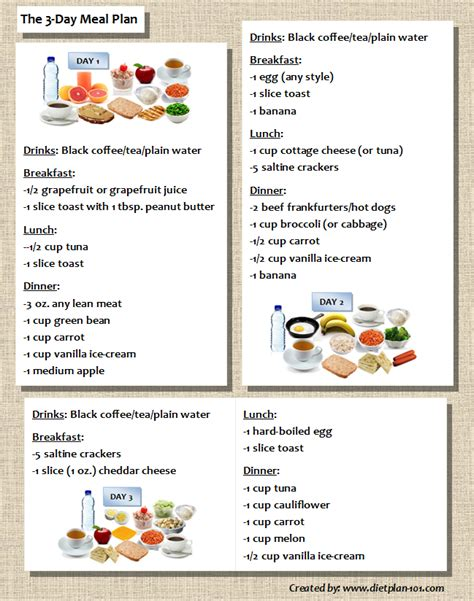 3 Day Carb Detox Meal Plan by 3 Day Diet Food List South Phase One Meal Plan