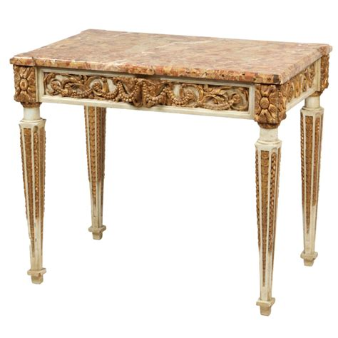 Italian Console Table Carved And Gilt Italian Console Table Late 18th Century For Sale At 1stdibs