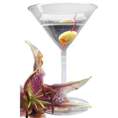 plastic martini glasses for centerpieces ideas