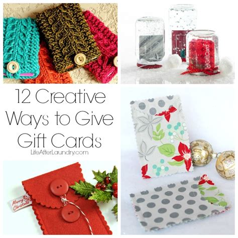 Give Gift Cards - 12 creative ways to give gift cards life after laundry