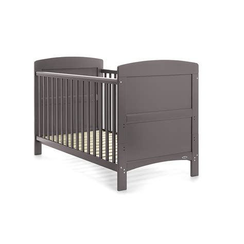 Grey Baby Cot Obaby Grace Cot Bed Taupe Grey Baby Toddler Nursery