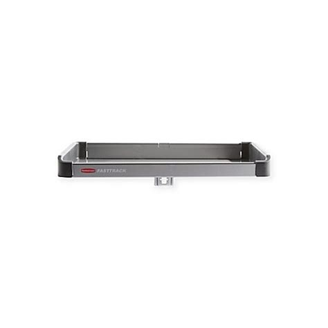 bed bath and beyond tracking rubbermaid 174 fasttrack 174 rail small metal shelf bed bath
