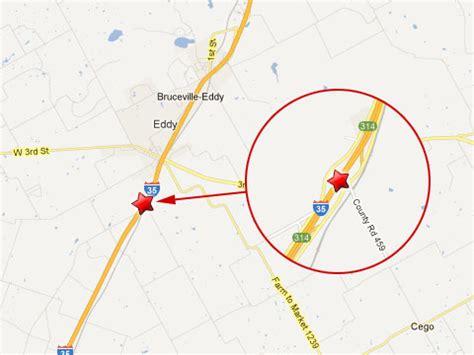 eddy texas map dead in semi truck vehicle on i 35 near bruceville eddy texas truck