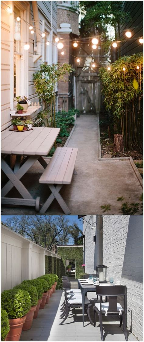 best 25 narrow backyard ideas ideas on small