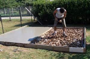 cr 233 ation dalle pour abris de jardin entretien jardin et