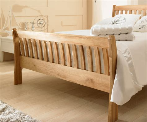 Oak Sleigh Bed New Waldron Solid Oak Sleigh Bedframe