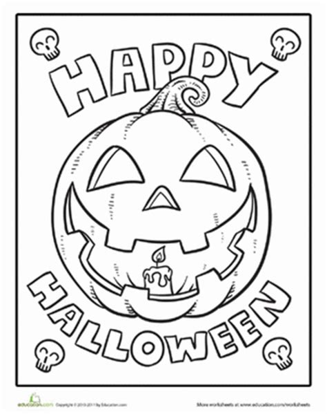 coloring pages kindergarten halloween color the happy halloween worksheet education com