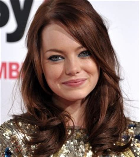 emma stone brown hair emma stone in warm and cool colorsemma stone in warm and