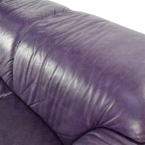 purple leather ottoman 85 off himolla himolla purple leather sofa with ottoman