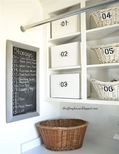 how i organized my open cabinets in the laundry room cheap