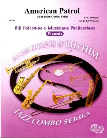 teach yoursefl jazz piano comping for cocktail combo and big band pianists books american patrol sheet by f w meacham sku hc103