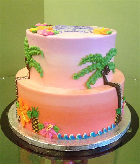 tropical tiered cake classy girl cupcakes