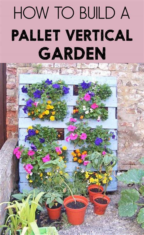 how to build a pallet vertical garden gardentipz