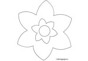 Simple Flower  Coloring Page sketch template