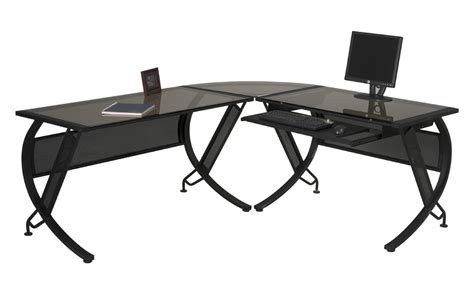 L Shaped Black Glass Desk Black Glass L Shaped Computer Desk L Shaped Computer Desk Black L Shaped Computer Desk To Meet