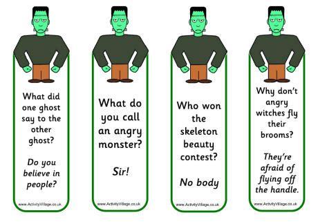 printable joke bookmarks frankenstein bookmarks jokes