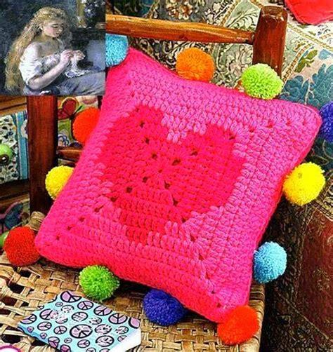 col cuscino lo spazio di lilla il cuscino crochet col cuore