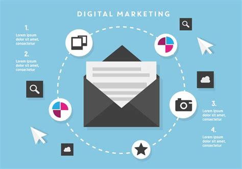 free flat digital marketing vector background download