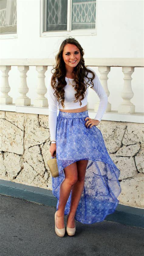 how to wear a hi low skirt glam radar