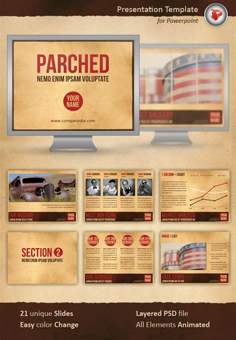 parched powerpoint template by perspectivaes graphicriver