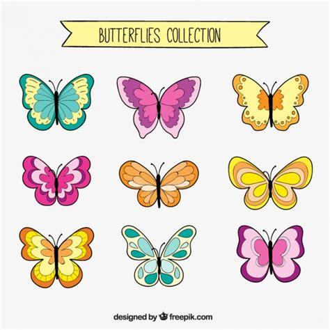 imagenes mariposas dibujos set de dibujos de mariposas descargar vectores gratis
