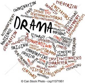 stock illustrations of drama abstract word cloud for