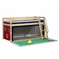 childrens furniture wooden mid sleeper bed frame with football