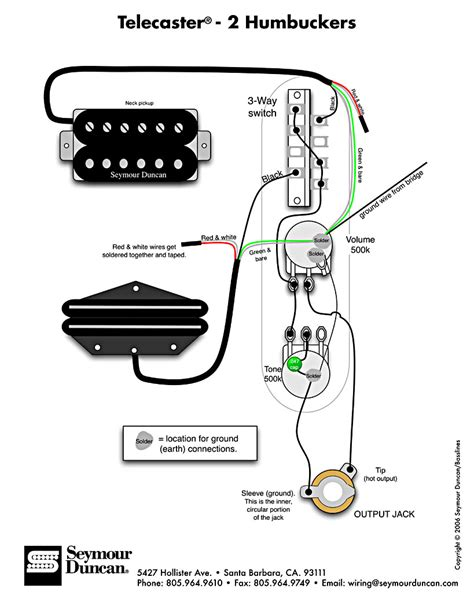 tele wiring diagram with 2 humbuckers circuitos de