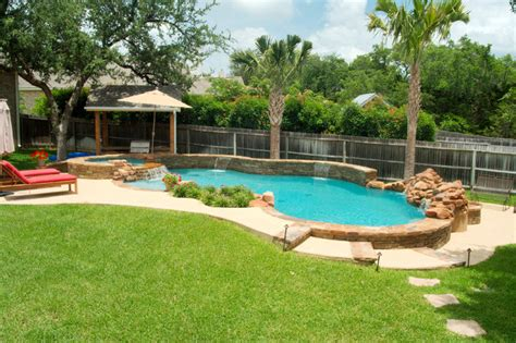 Landscape Designs For Backyards Luxury Backyards Traditional Pool Austin By Cody