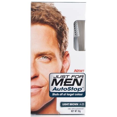 just for men autostop men buy just for autostop hair colour a 25 light brown 35g