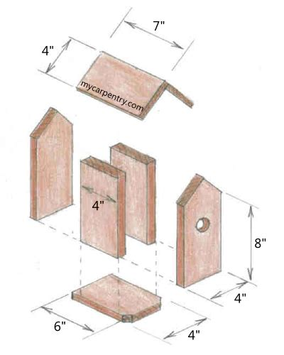 simple bird house plans free birdhouse plans