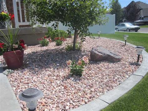 use of landscaping rocks is beautiful design aesthetics to