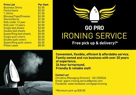 Best Resume Review Services by Go Pro Ironing Service In Clayton South Melbourne Vic Dry Cleaning Amp Laundry Truelocal