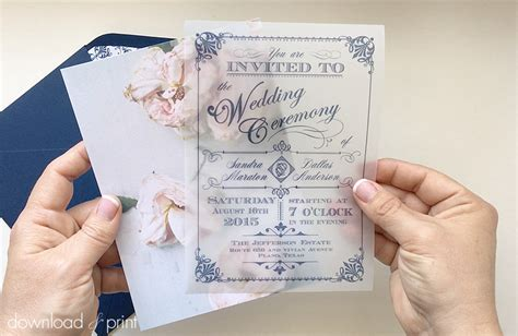 wedding invitations using vellum paper diy translucent wedding invitation with vintage charm