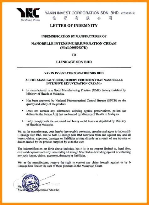 Bank Indemnity Letter letter of indemnity