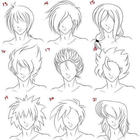 anime hairstyles for guys drawings anime male hair style 3 by ruuruu chan on deviantart