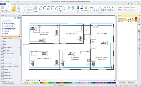 network floor plan office network floor plan
