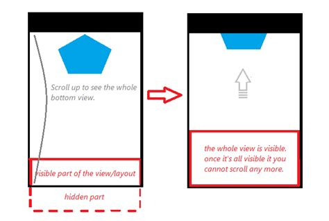 android layout animation marquee android scroll a hidden view layout from bottom stack