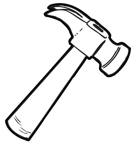 Galerry coloring page of a hammer