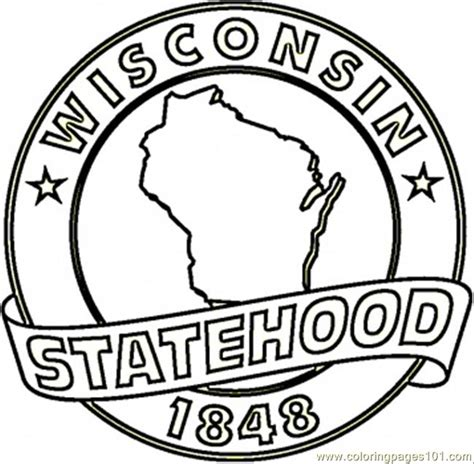 Coloring Pages Wisconsin Countries Gt Usa Free Wisconsin Coloring Pages