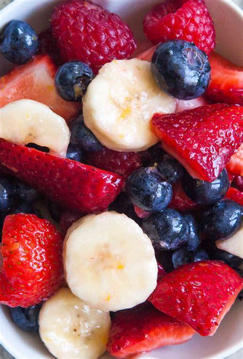 And Berries berries and banana fruit salad recipe simplyrecipes